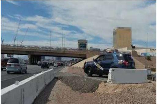 Photo of a strategic traffic management site on I-15, Las Vegas, nevada